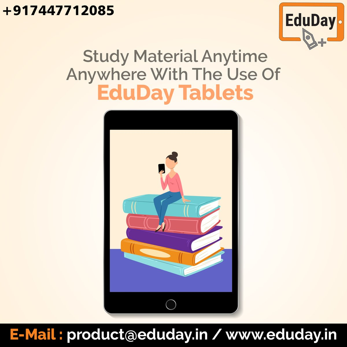 EduDay Educational Tablets especially designed for competitive exams such as JEE, NEET, UPSC, CA.etc  For more information please feel free to contact on: - Ph : +91 7447712085 E-Mail: product@eduday.in http://www.eduday.in  #eduday #edudayindia #pune #india #tab #tabletspic.twitter.com/epIhziEOsw