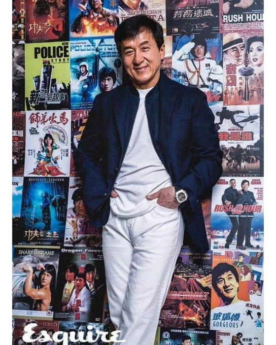 """Anyone can be a superman,but nobody can be Jackie chan.\""  Happy 66th Birthday"