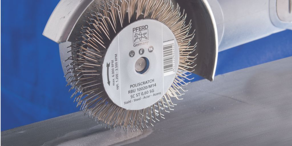 PFERD Poliscratch wire brush - a  unique wire brush for special applications. Find out more contact PFERD on 1300 073 373 or email online@pferd.com.au for more information. pic.twitter.com/U9zTtIoRNh