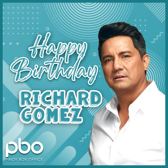 Happy birthday, Richard Gomez! Wishing you a day filled with happiness and plenty of love!