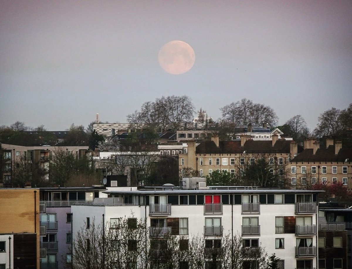 Today's moonrise from lockdown: