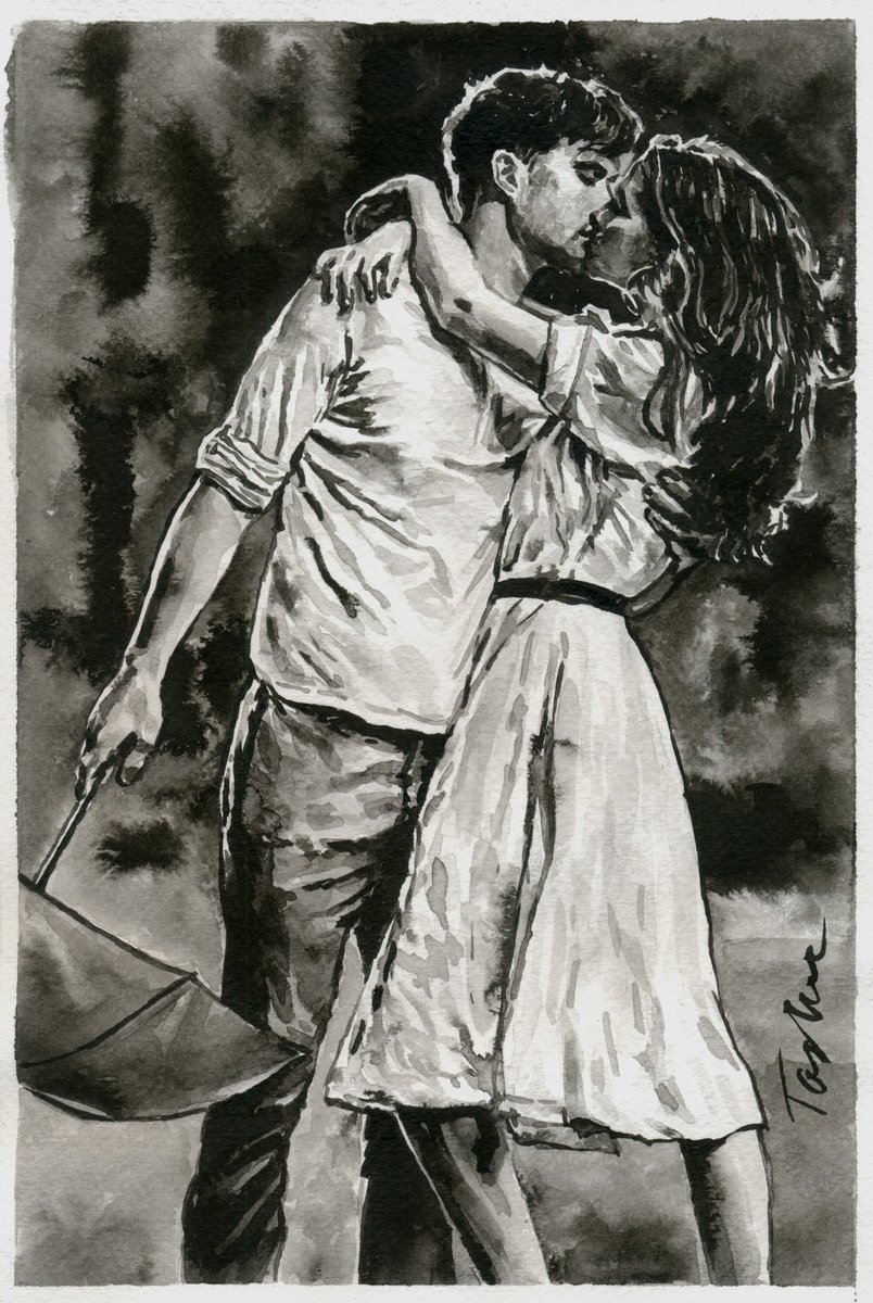"""Good morning my dear friends !  Wish you a good, sunny day. Keep smile and love !  """"How lucky I am to find a treasure like you. You are one in the million you are my dream come true. You are my sunshine """".  My new drawing """"Love of my life"""".  #tasheart #love #ink pic.twitter.com/ngak7LdKgm"""