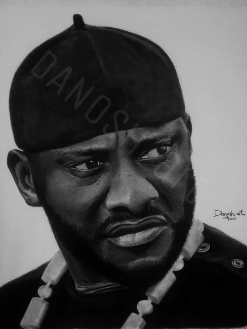 #Reposting  Done with the pencil drawing of a nollywood superstar Yul Edochie. Please great people, help me repost and tag him on instagram and twitter @yuledochie Thanks for your concern. I LOVE YOU ALL. #DANOSH_arts pic.twitter.com/93venRpllY