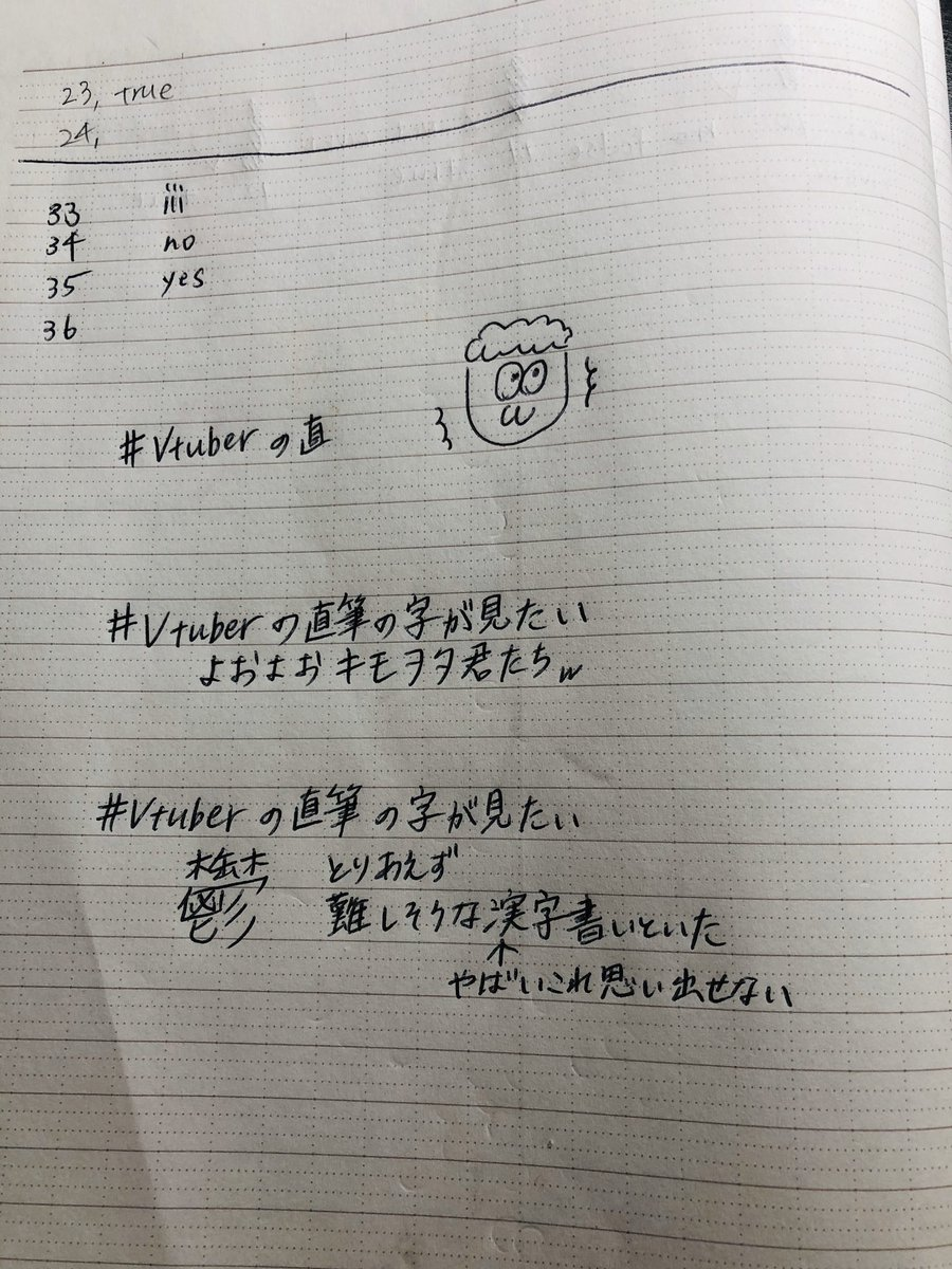宿題のノートに書いてしまった…の図