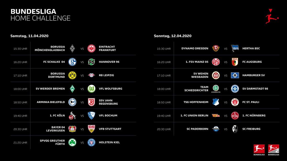 In der dritten #BundesligaHomeChallenge treffen wir am Samstagabend auf den @SSVJAHN! Wir werden mit einem neuen Duo antreten, wen wünscht ihr euch? #immerdabei #fussballvereint