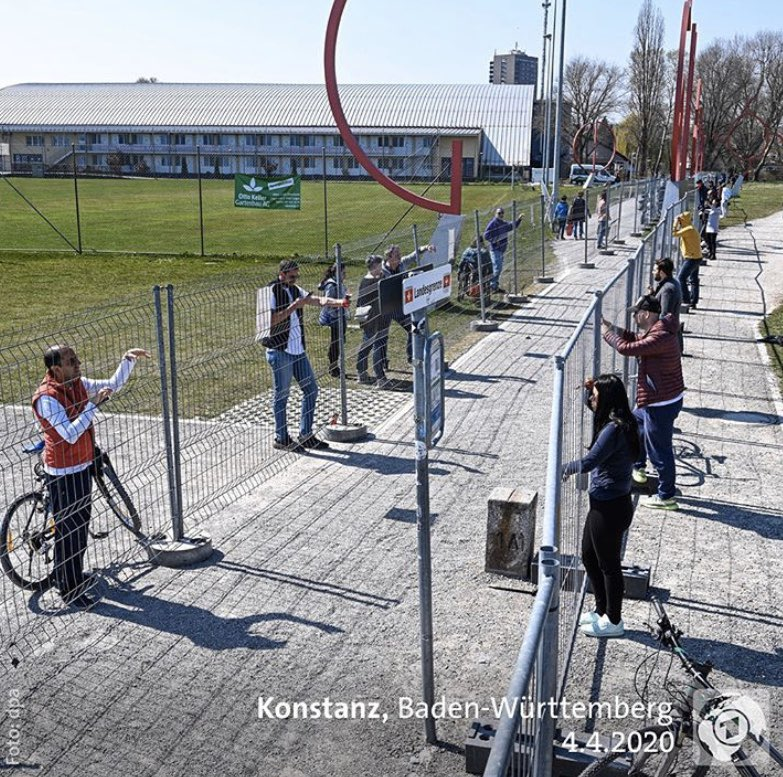 Image of a closed border within Europe here between Constance, Germany and Kreuzlingen, Switzerland. Hopefully, the awareness for the importance of open borders will raise during #COVID2019 and Europe's civil society will fight for open borders - internal and external ones.pic.twitter.com/qx9x1rReWA