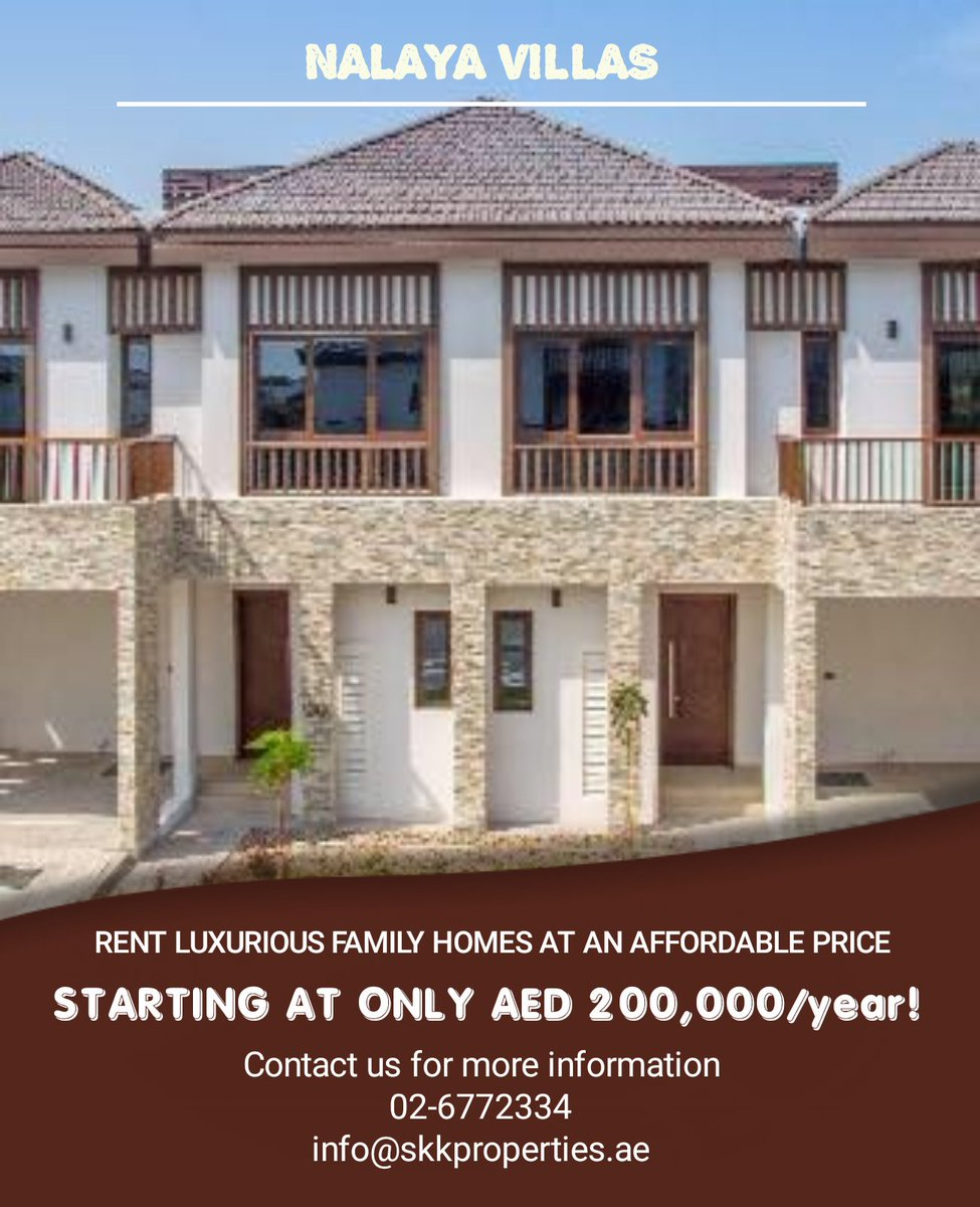 Resort Style 4-5BR Villas available for rent.  Contact us now to get this amazing beach access villa.  Call : 026772334 Email: info@skkproperties.ae  #UAE #abiduabi  #callustoday #homes #bedroom #lifestyles #skyline #towers #park #canal #parks #almarasy #albateenabudhabi https://t.co/5L8XTFtXbs