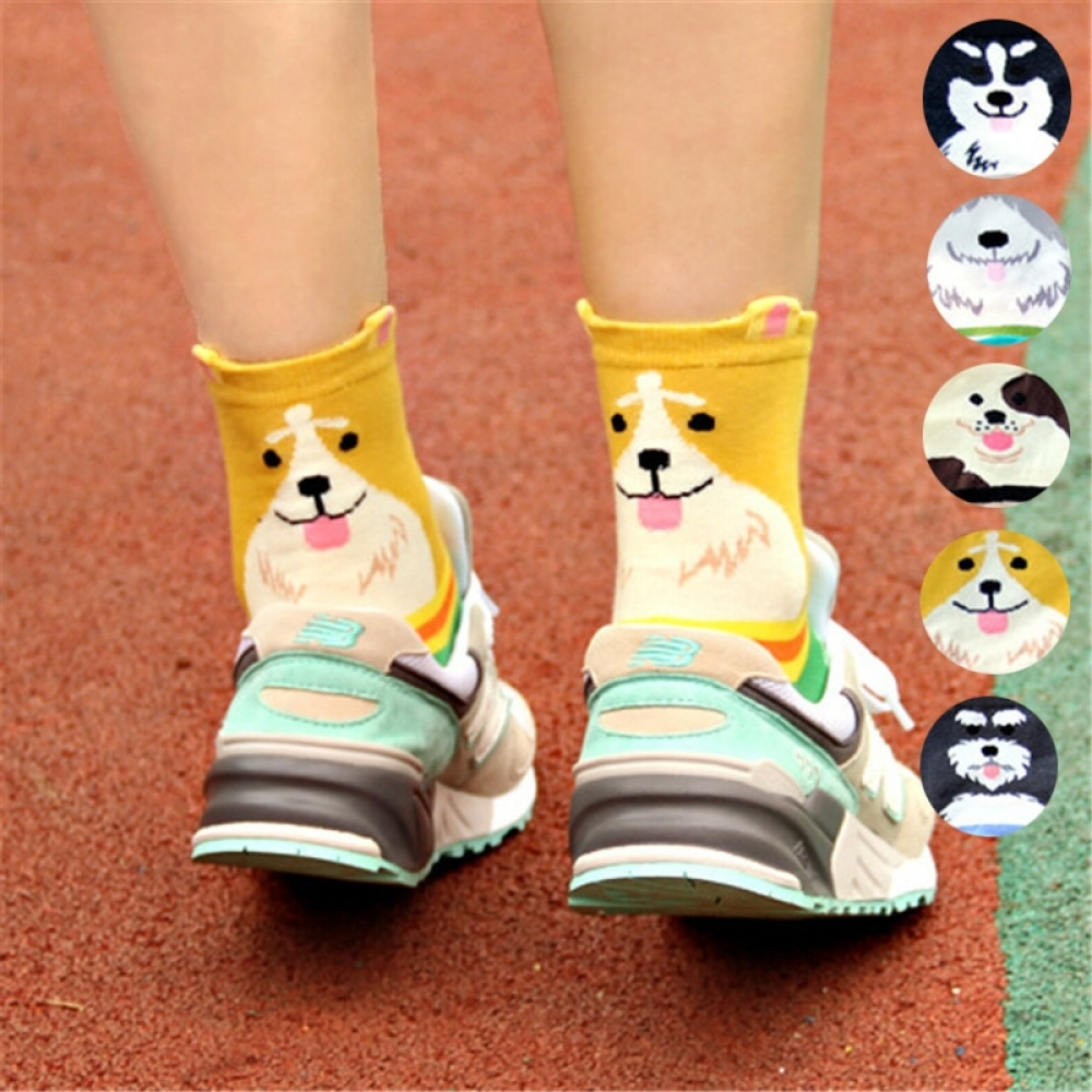 #Casual #baby Colorful Women's Socks with Doggy Designs