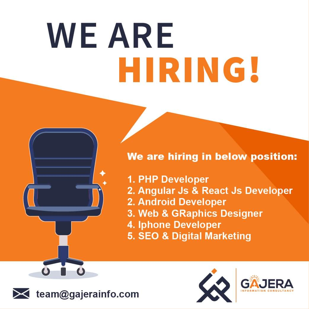 We are hiring Achiever and Leaders.  #webdeveloper #Androiddeveloper #iphonedeveloper #digitalmarketing #seo #angularjasdeveloper #reactjsdeveloper #graphicsdesigner pic.twitter.com/qeVcCtflXv