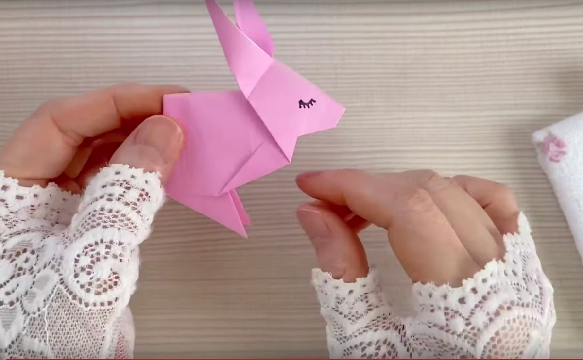 Get crafty and learn how to make this adorable origami rabbit → yt.be/wfQK