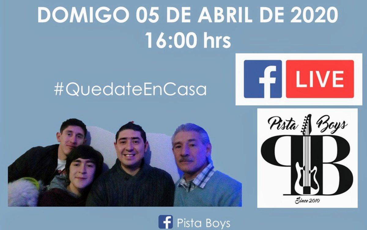 Mañana pasen un rato escuchando un poco de #OldiesMusic con #PistaBoys habrá artistas invitados, te esperamos por Facebook Live y recuerda #QuedateEnCasapic.twitter.com/Yb1XChavaB