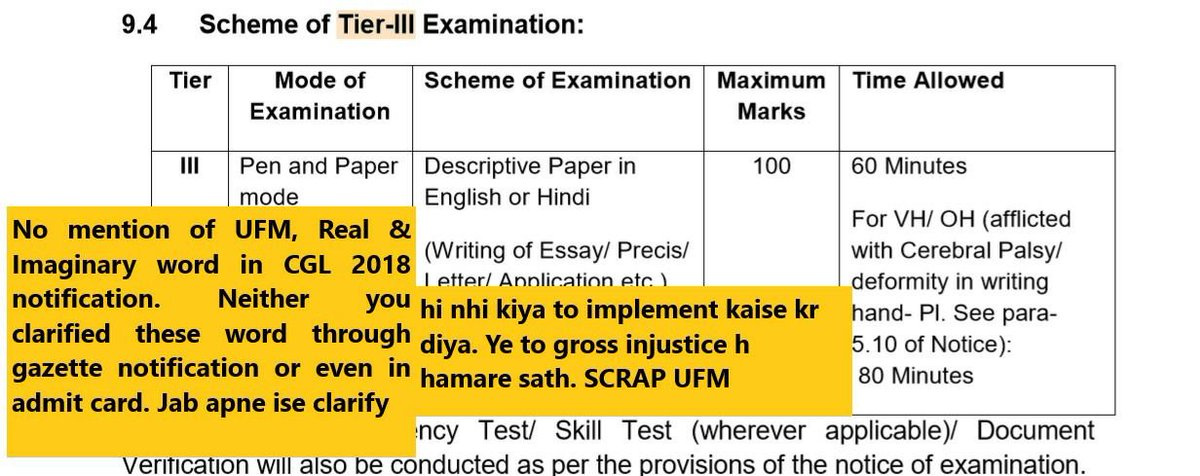 #SSC_UNFAIR_UFM To misjudge the candidates on the basis of unintentional fault of their part is totally unfair in ssc descriptive essay and letter writing exams. Please take stock of the matter and help them.#SSC_UNFAIR_UFM @DrJitendraSingh  @the_hindu @DrKumarVishwas @TheQuint<br>http://pic.twitter.com/1f5Lmo3GuR