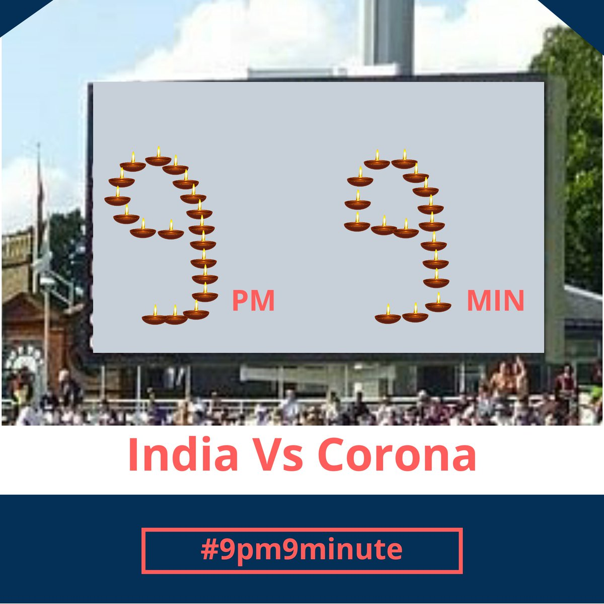 One '9 9' that will be loved more than any 'Centuries' ever made!  Let's join our PM  @narendramodi in this match against #Corona. #9baje9minute<br>http://pic.twitter.com/RS8cXHVBj4