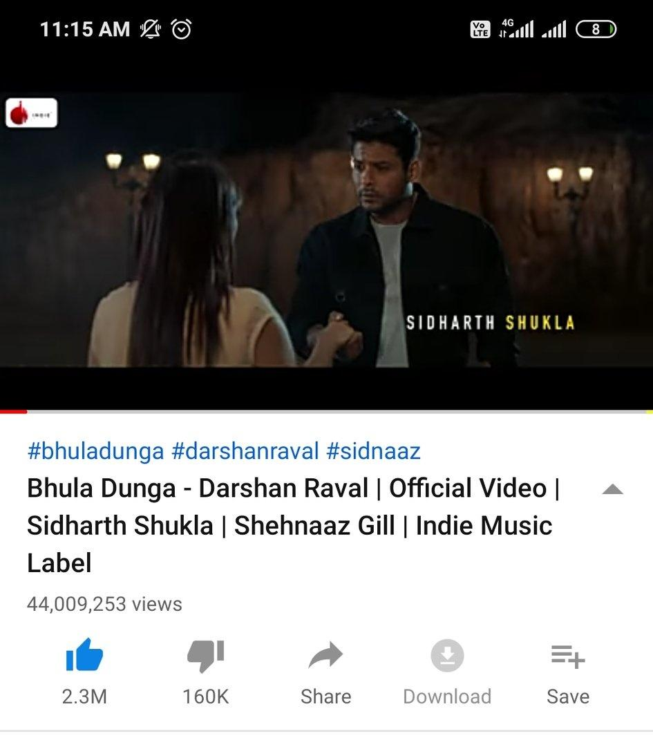 Breaking   It's 44M+ Views...   Keep Streaming #BhulaDunga50M  Aaj To 50M Krna Hi Hai... Go For It.   #SidHeartsLoveOnlySid #SidheartsProudOfSid<br>http://pic.twitter.com/3qNGQxQ6Vp