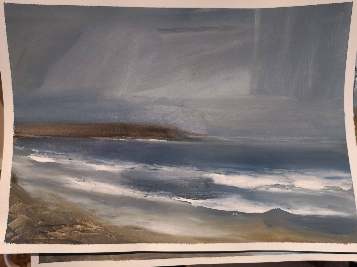 Quick paint sketch Owenahincha, County Cork