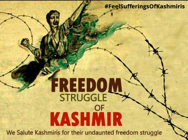 The freedom struggle of Kashmiris will continue with momentum. The world organizations must force India to stop its human rights violations in Held Kashmir. @TeamForPakistan  #FeelSufferingsOfKashmiris<br>http://pic.twitter.com/jiov75pwrU