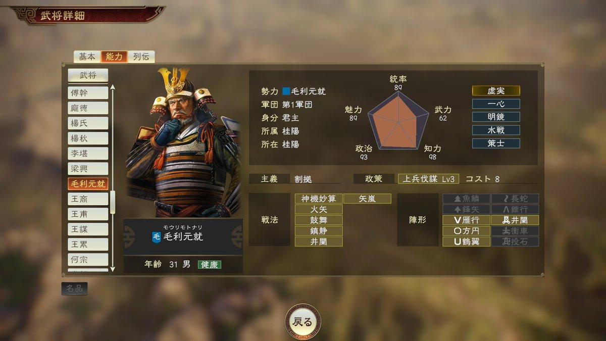 データ 三国志 14 武将