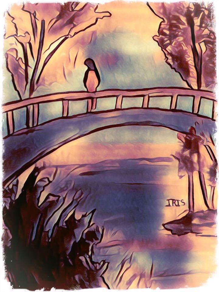 The Bridge, painted by @IRISUNART #irisunart #art #artistic #artist #arte #artsy #arts #painting #paintings #paint #watercolor #watercolors #instartist #instalove #instalike #galleryart #onlinegallery #fineart