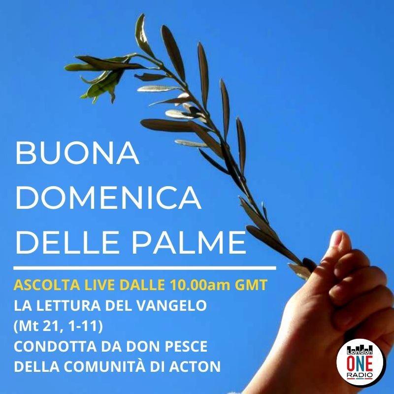 In questo momento cosi difficile per tutti la #domenica delle #palme assume un significato di #speranza e di #pace nei nostri #cuori nelle nostre #case. Ascolta la diretta:   #buonadomenica #palme @ItalyinUK @MatCerri @ItalyinLDN @Raiofficialnews
