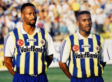 Uche Okechukwu and Austin Okocha line up for Fenerbache in 1996:  • They belong to that golden generation at #Tunis 94 #USA 94 #Atlanta 96 and #France 98.  #FastTrackThrowbackpic.twitter.com/qkU6yVME3M