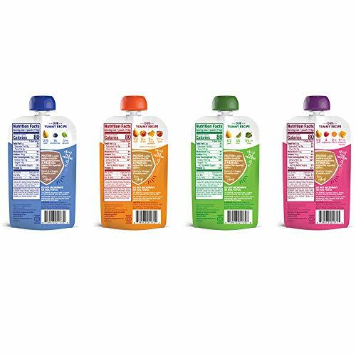 Happy Tot Organic Stage 4 Fiber & Protein 4 Flavor Variety Pack (Pack of 16) #baby
