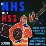 One rule for the public, another for their own projects: government-funded @HS2ltd continues to exploit the pandemic by continuing with work whilst the country is distracted. Where is the concern for their workers or the public? @BorisJohnson #NHSnotHS2 @Hs2Rebellion