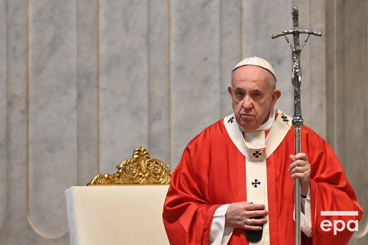 Сценка поздравления папы римского
