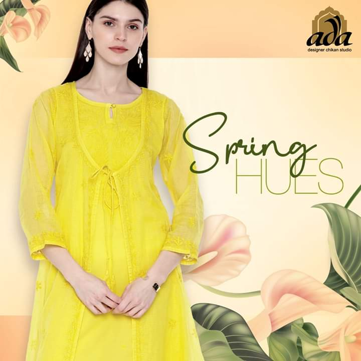 Timeless, traditional fashion that is Trans seasonal and always in vogue like this Yellow Kota Chikan A line Kurti with a contemporary twist by Ada Designer Chikan Studio.  Product code: A100211 #Adachikan #Chikankari #Chikankurti #Springcollection pic.twitter.com/9pSxLLIWiO
