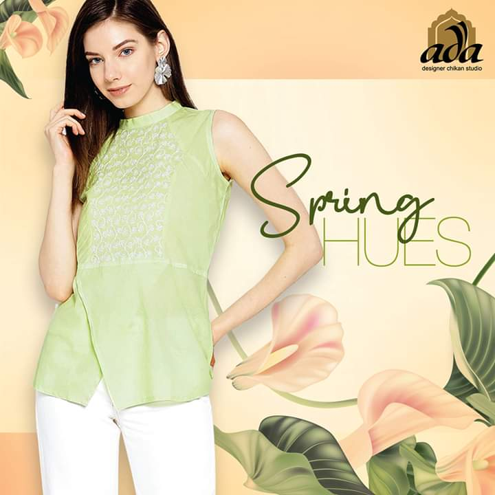 Breezy hues with beautiful Chikan embroideries are the season's must-haves- this Green Cotton Chikan Top is just what you need to outshine and flaunt yourself. Product code: A100077 #Adachikan #Chikankari #Chikantop #Springcollection pic.twitter.com/RTnyhSosuc