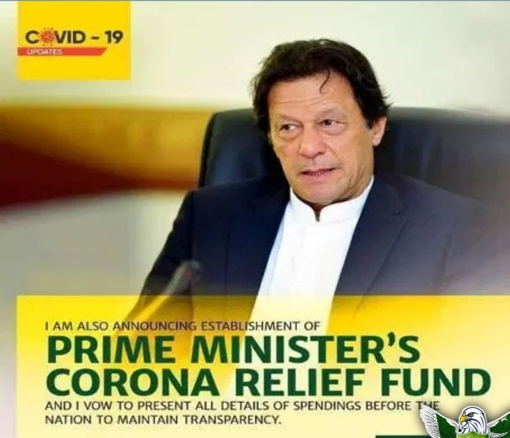 I am also announcing prime Minister's corona relief fund i and i vow to present all details of spending before the nation to maintain transparency. PMIK #IK_SaviourOfNation<br>http://pic.twitter.com/nqqmikEViO