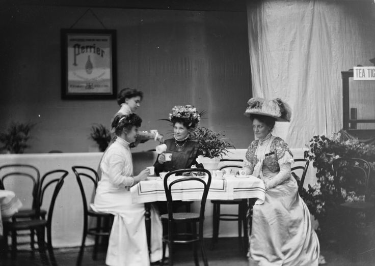 In the early 1900s, UK and US women often ran #Tea Rooms, an acceptable form of employment in a limited world for females, and such places soon became places for women seeking systemic social change to associate, linked to suffrage and womens rights #womensart