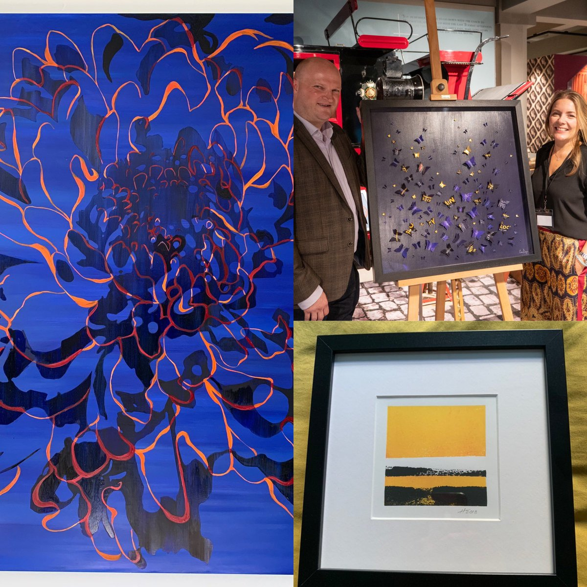 "#thankyou to the #localartist community @HelenBroughArt and her ""Bocca Di leone"" oil on aluminium @lornadoyan and her commission of my book #commercializingblockchain in her #butterfly style @HamishMacaulay and his ""Glorious day"" in our favourite #yellow #highgatepic.twitter.com/CA60s5kzlm – at Parkland Walk (Crouch End to Highgate section)"