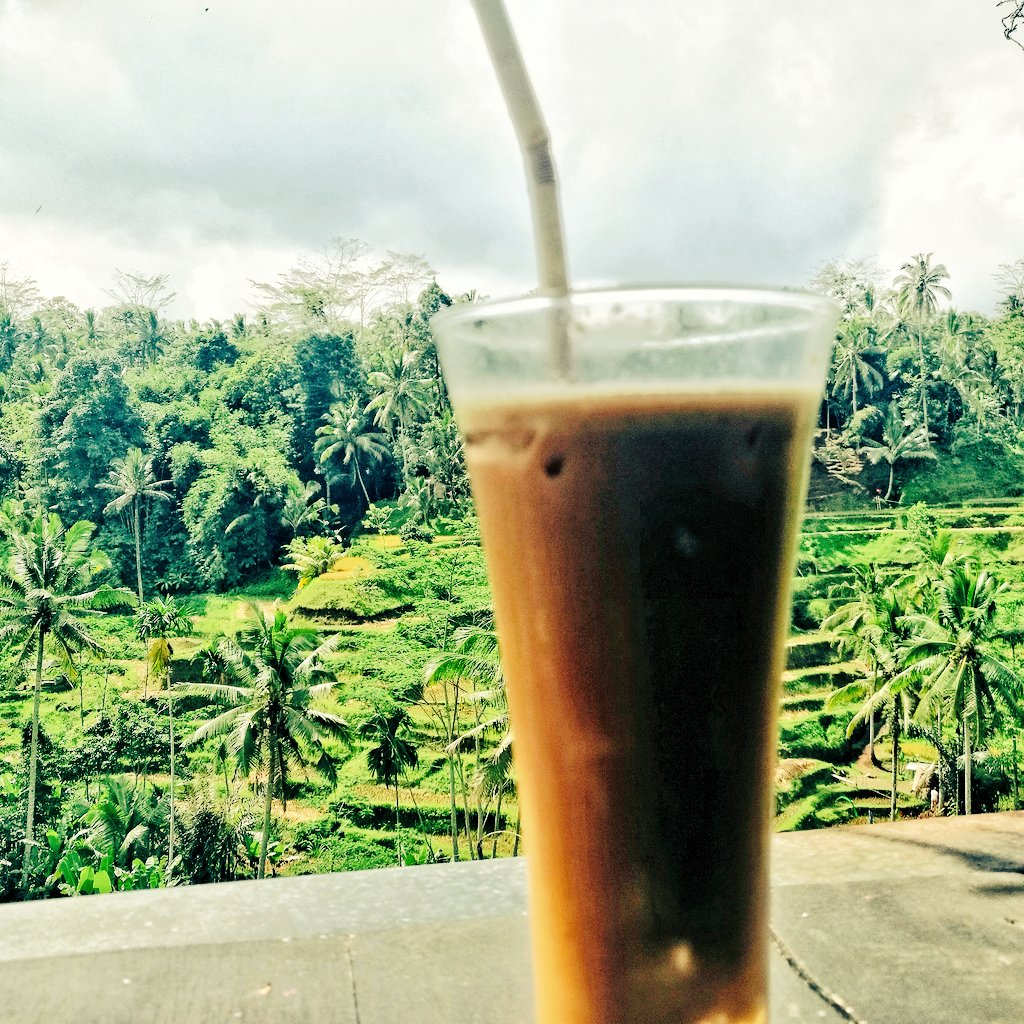 #bali #ubud #Escoffee #icecoffee #travel #traveltribe #photography #travelphotography #balilife  #dewanderersoul #mytravelpics #travelpics #travelbug #Traveler pic.twitter.com/PAdJdCm4ht – at Tegallalang Rice Terraces