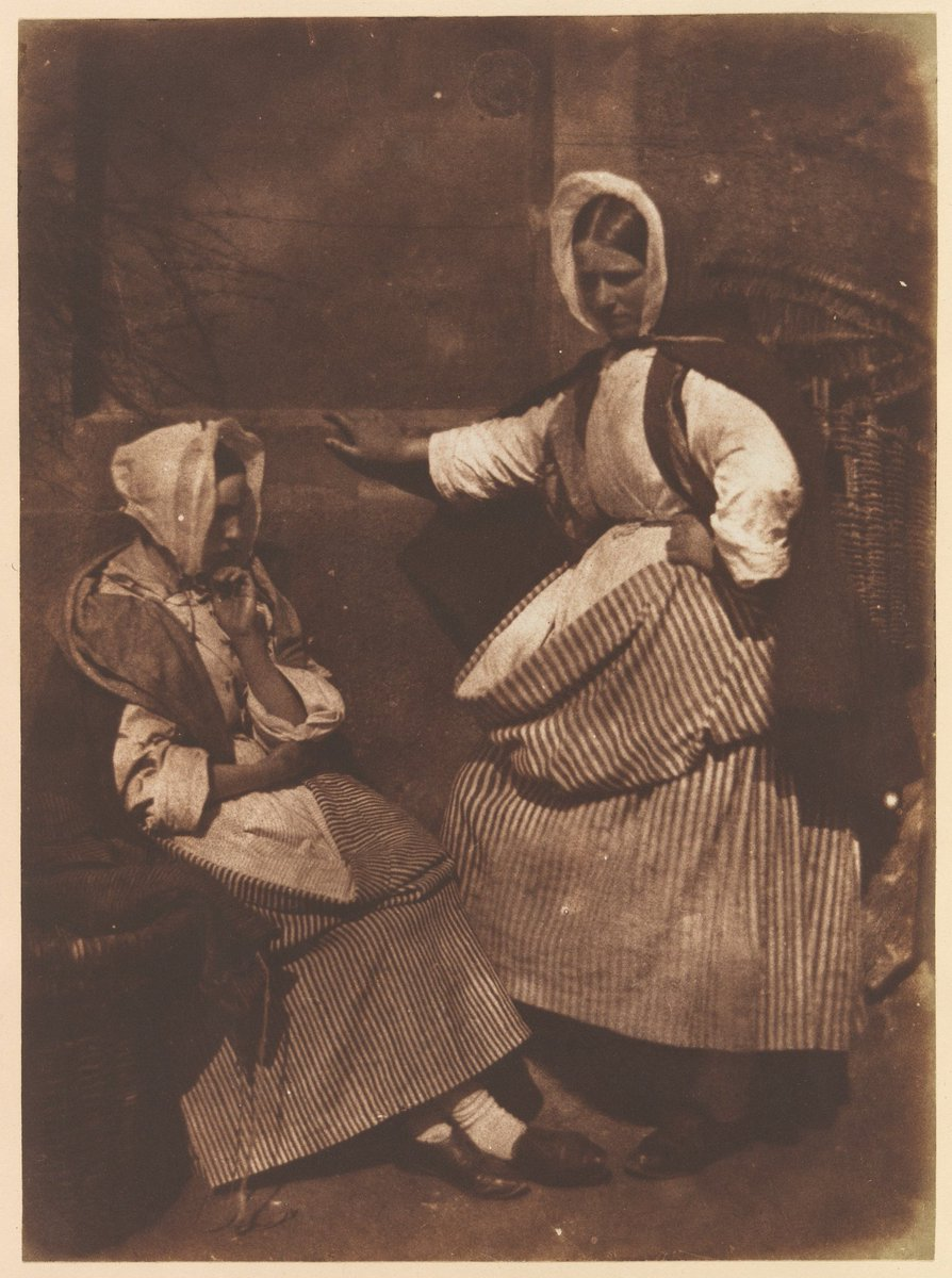 Hill and Adamson - New Haven Fishwives, ca 1845 #blackandwhite #photography #metmuseum