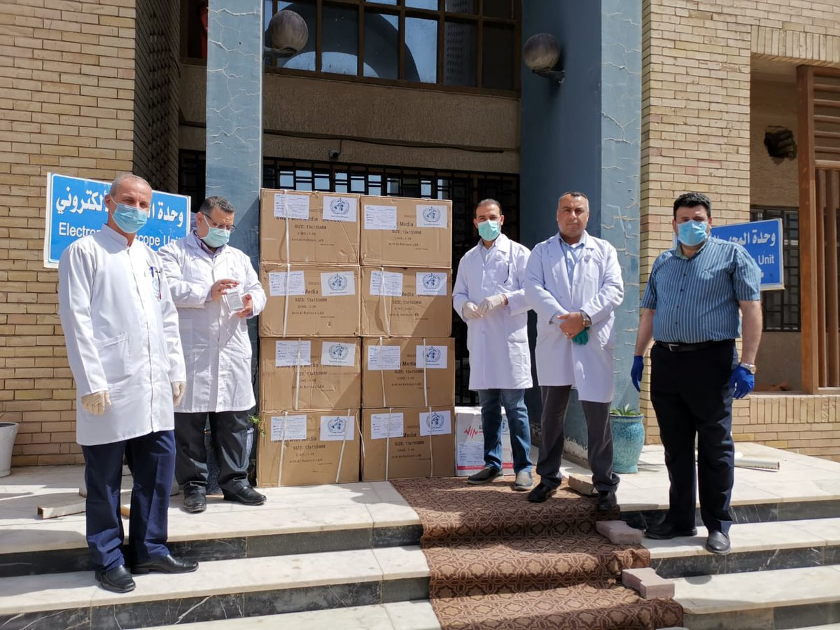 In cooperation with the @WHOIraq, the #Covid_19 Crisis Cell of @BasraUniversity in southern #Iraq has successfully produced urgently-needed laboratory supplies to speed up the testing of suspected cases. More in https://t.co/bDxvPx3R8j. 1/4 https://t.co/BfcBGcBzXK