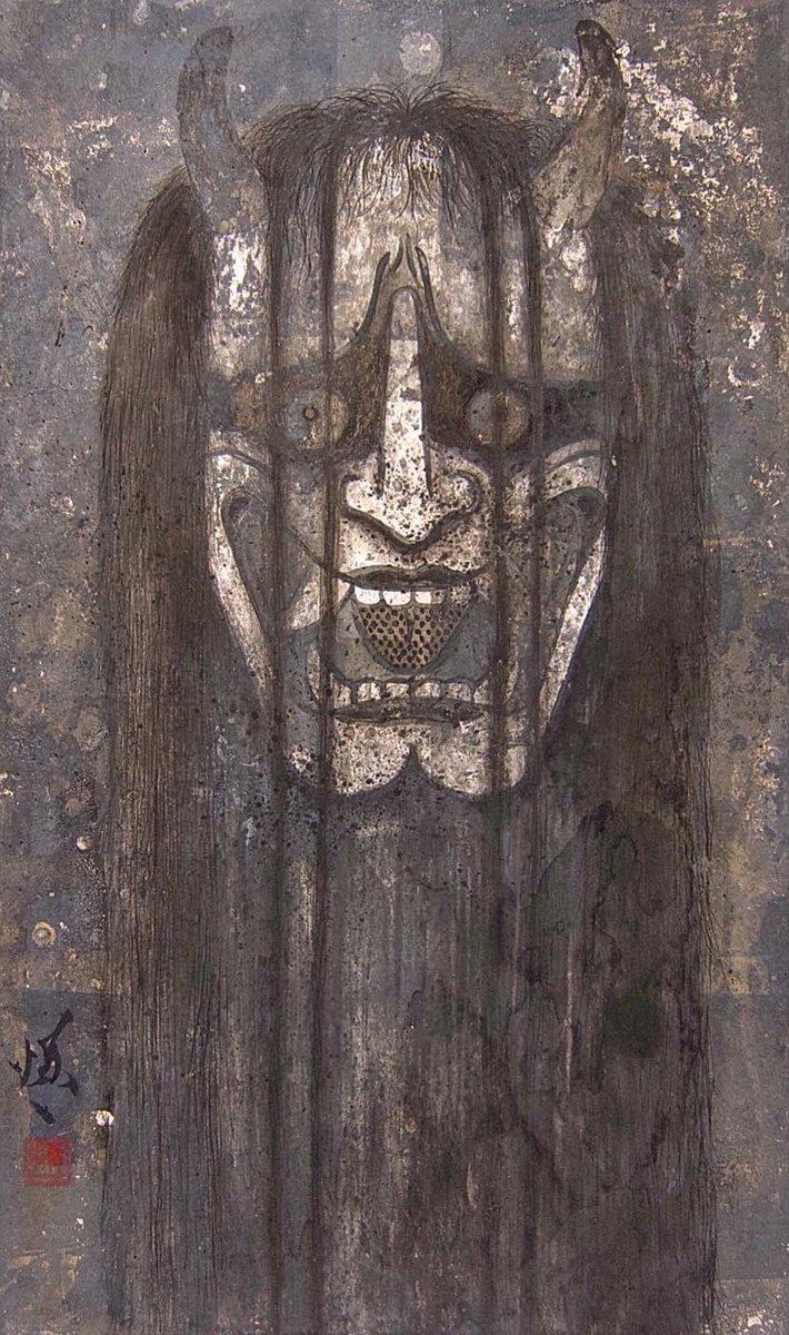 鬼/wisdom Japanese paper on Chinese ink,Silver leaf 2020  #art #japanesepainting #drawing #shinichiwakasa #知恵 #若佐慎一 #girl #女 #日本画 #水墨画 #怨み #abstractart #contemporaryart #コロナ #疫病退散pic.twitter.com/S2a9ocx0Wu