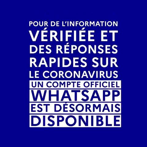 Retrouvez @gouvernementFR sur @WhatsApp pour répondre à toutes vos questions sur le #COVID19 twitter.com/gouvernementFR…