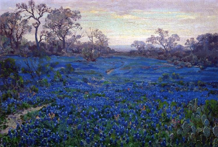 Bluebonnets at Twilight, near San Antonio Robert Julian Onderdonk, 1920 #art pic.twitter.com/AeUc61hpse