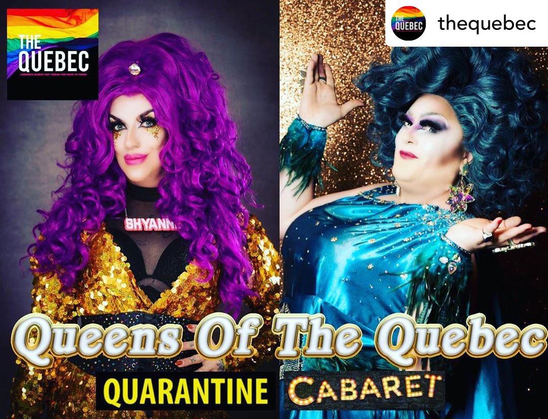 Queens of the Quebec Quarantine Cabaret, Facebook Live, from 8.15pm