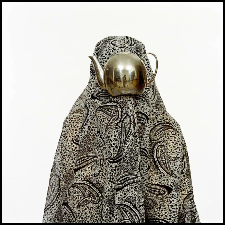 """Like Every Day"",2001, Iranian artist Shadi Ghadirian explores stereotypes of women in Iran #womensart"