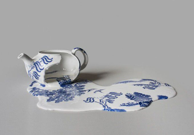 Chilean artist Livia Marin, #teapot from the ´Nomad Patterns´ series (2012) #womensart #SundayThoughts