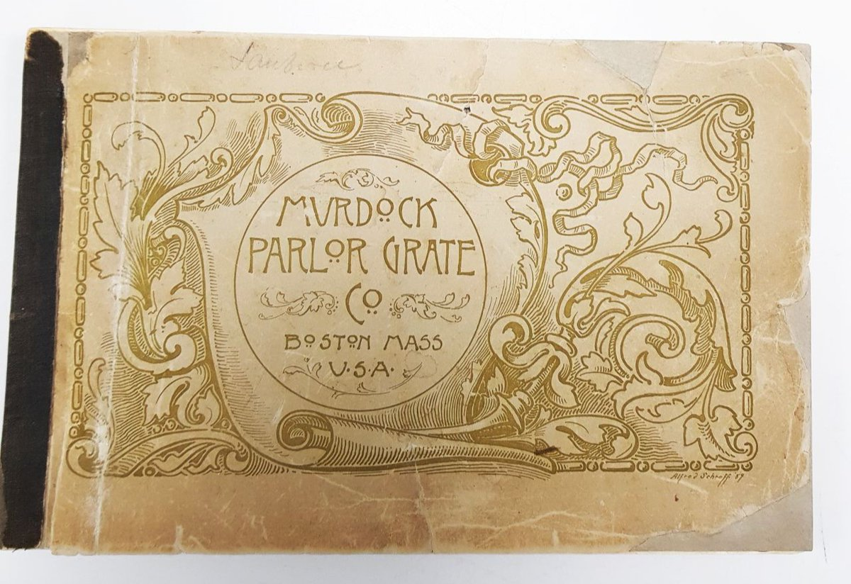 In #typography heaven with this Murdock Parlor Grate Company catalogue, c.1890, featuring some amazing adverts!  #FontSundaypic.twitter.com/2zGn76k9Dg