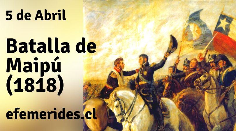 """Efemérides de Chile on Twitter: """"Hoy se conmemora la Batalla de Maipú, que  fue decisiva la victoria del Ejército Unido Libertador de Chile comandado  por José de San Martín sobre el Ejército"""