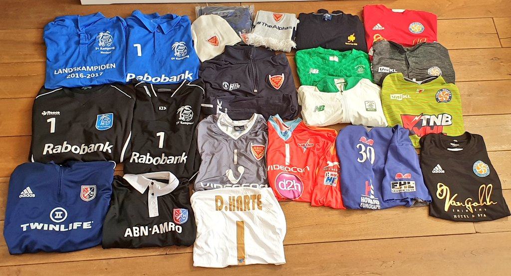 A decent stash I found after a Spring clean 🧹🧺! Fabulous memories & even a @PWHC blue smock with the very first ever @EHLHockeyTV badge from 09/10!! #StayHome #oldschool #memorylane #hoarder