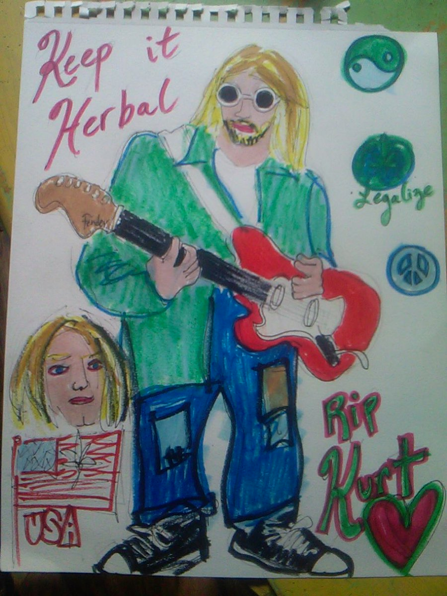 long live the #Music #art #poetry of KURT COBAIN !!!  #cannabis for #mental #health !!  #Legalize natural #plantbased eARTh #Medicine in all 50 #American states!!!  #Humans deserve #Legal medicine via #mothereARTh!  #Legalizeit #ganja #mmj #usa #art #cobain #KurtCobain #streetartpic.twitter.com/T23lVFYSm9