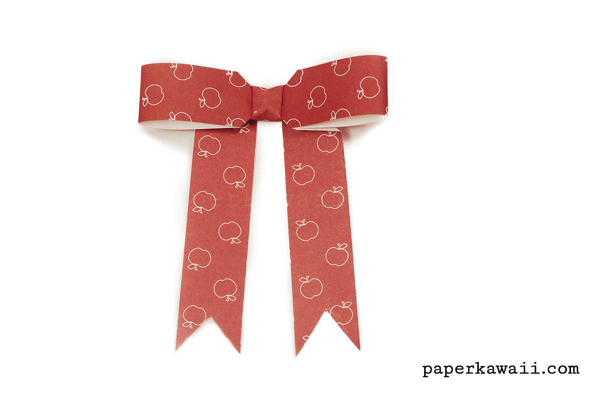 How to Make Beautiful Paper Kirigami Bow | Arcos de papel, Como ... | 800x1200