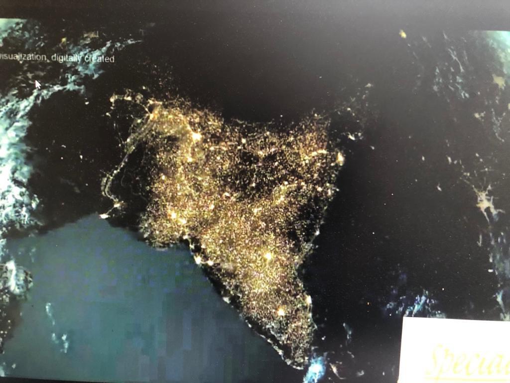 Satellite image of India #9बजे9मिनट<br>http://pic.twitter.com/WhuVjVz5VU