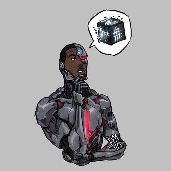 Mother Box.  Mother Box.  Father Box! #Cyborg #VictorStone #DCComics #JusticeLeague #YoungJustice #DCUNIVERSE pic.twitter.com/dpaWCFrsDc