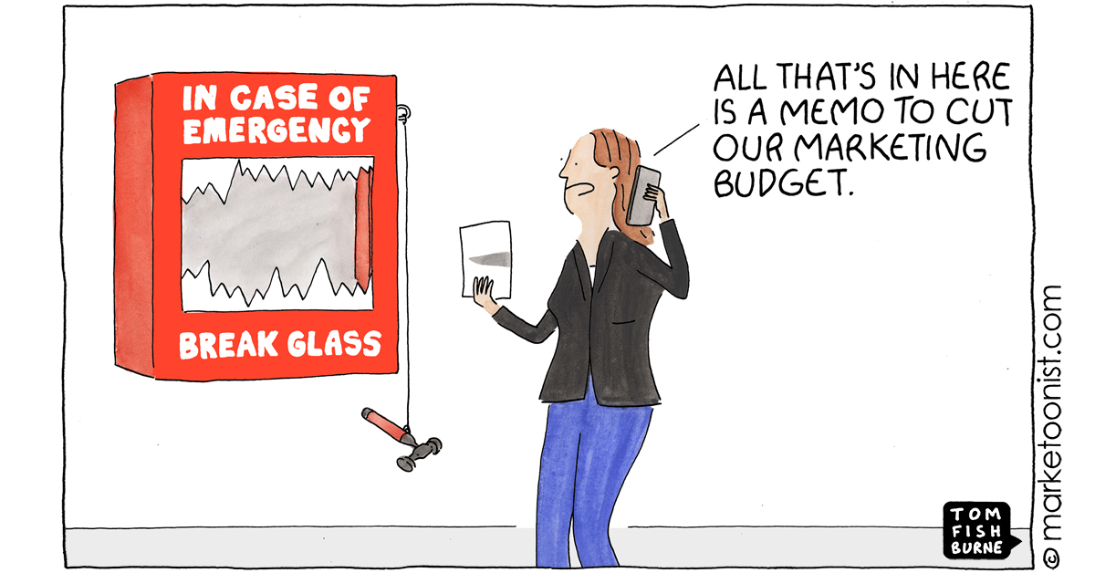 """""""Marketing is More than Communication"""" - new cartoon and post about doing more with less https://t.co/0pr1HAp44e #marketing #cartoon #marketoon https://t.co/JrnPHNHDKV"""