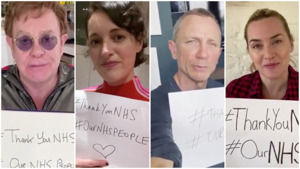 Phoebe Waller-Bridge, Daniel Craig, John Boyega and more say thank you to the NHS bit.ly/2Rf4Sme